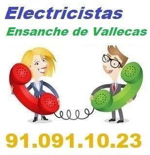 Telefono de la empresa electricistas Ensanche de Vallecas