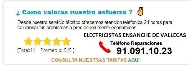 electricistas ensanche de vallecas precios